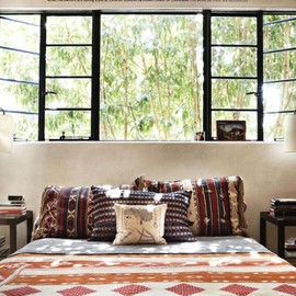 #steel frame windows, designer pamela shamshiri for house beautiful