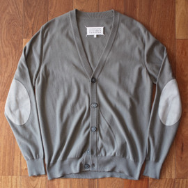 MAISON MARTIN MARGIELA - elbow patch cardigan (dark green)