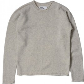 MHL. - ROLLED EDGE JUMPER SHETLAND PALE NATURAL