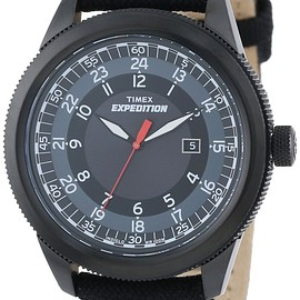 TIMEX - Timex  Expedition Military Classic All-Black Nylon Strap Watch