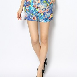 ROSE BUD - FLOWER PT SHORT PANTS