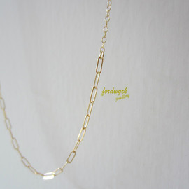 fordwych jewellery - 14kgfロングネックレス【dearie】chain