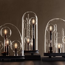restoration Hardware - chemistry lamps