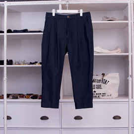 FACTOTUM - DENIM&TAFFETA SLACKS