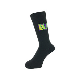 WHIMSY - 32/1 POISON SOCKS BLACK