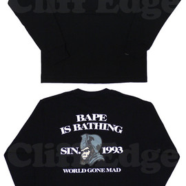 A BATHING APE - ABATHINGAPE(エイプ)BAPEISBATHINGGENERAL長袖Tシャツ【新品】BLACK202-000460-041[1910-111-016]-