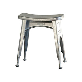 DULTON - KITCHEN STOOL  GALVANIZED