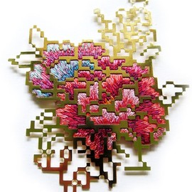 Heng Lee - Flower Embroidery Brooch