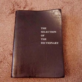 THE SELECTION OF THE DICTIONARY