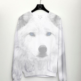 CSERA - Wolf Womens Sweater Full Print Jumper Fashion Womens Top Wolf Trend 2014 Sweatshirt Hipster Sweater
