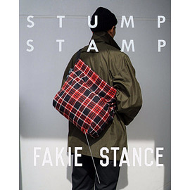 STUMP STAMP × FAKIE STANCE - STUMP STAMP × FAKIE STANCE TARTAN CHECK LARGE SACOCHE(RED)