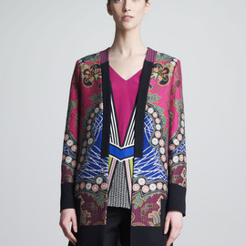Etro - Multicolor Printed Jacket Pink Blue