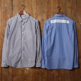 GOODENOUGH - STRIPED ROUND COLLAR SHIRTS