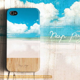 NapPage - Beautiful cloud, beach and sky with wood (Not real wood)