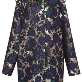 MSGM - Rose Lurex Brocade Trench