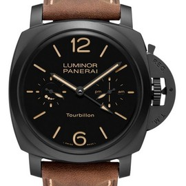Panerai - Panerai Luminor 1950 Tourbillon GMT Ceramica 48mm Watch PAM 396