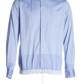 sacai - sacai Stripe Shirt with drawstring