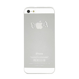"CEMENT PRODUCE DESIGN, iTattoo - ""Candy apple"" for iPhone5 White & Silver"