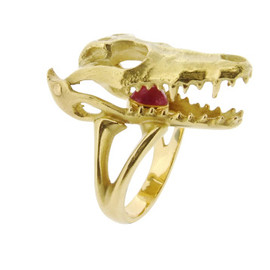 Solange Azagury-Partridge - Crocodile Skull ring