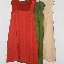 Sleeveless dress - Women cotton and linen Sleeveless dress