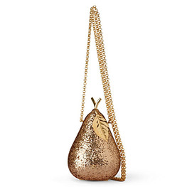 ANYA HINDMARCH - Pear glitter–embellished framed clutch