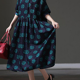 dark blue dresses - Women large size dark blue dresses / Long Maxi Dress/ Women Long Oversize Large swing dresses