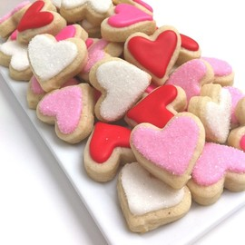 SunshineBakes - LOVE Heart Cookies (3 dozen small)