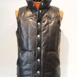 BACKBONE THE BASIS - LEATHER DOWN VEST