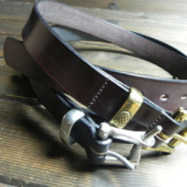 Martin.F for Needles - bridle leather quick release belt