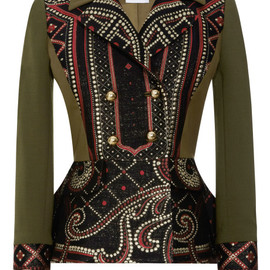 Prabal Gurung - Brocade Front Double-Breasted Peplum Jacket