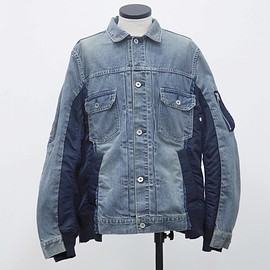 sacai - Denim x MA-1 Jacket