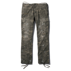 SOPHNET. - CAMOUFLAGE HERRINGBONE PAINTED TIGHT FIELD PANT