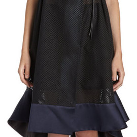 sacai - Perforated Wrap Dress