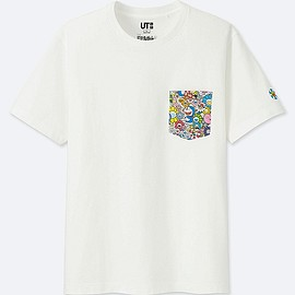 UNIQLO - DORAEMON X TAKASHI MURAKAMI SHORT-SLEEVE GRAPHIC T-SHIRT, WHITE, large