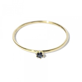 SATOMI KAWAKITA JEWELRY - SATOMI KAWAKITA JEWELRY / R1601S 18K Yellow Gold Black Sapphire Ring