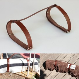 SILKEBOUG PLAIDS - LEATHER BELT