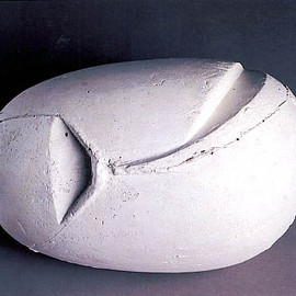 Constantin Brancusi - Head of a Child (The First Step), 1917, plaster