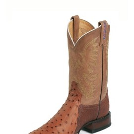 Tony Lama - USTRC® COLLECTION/PEANUT BRITTLE FULL QUILL OSTRICH
