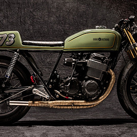Honda - CB750 cafe racer '77 by  High Octane