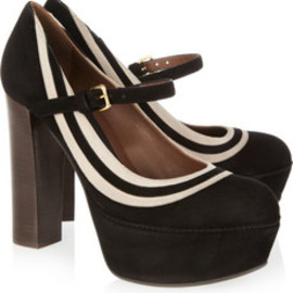 MARNI - Suede Mary Jane platform pumps