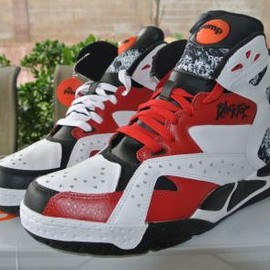Reebok - REEBOK BLACKTOP BATTLEGROUND WHITE/BLACK/FLASH RED
