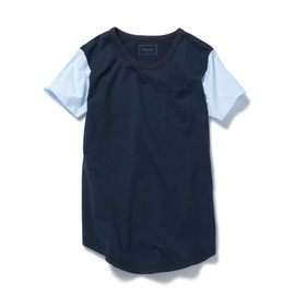 SOPHNET. - SLEEVE FABRIC MIX POCKET LONG TEE