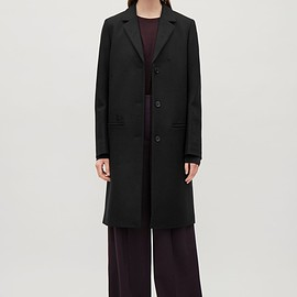 COS - Tailored wool coat in Black