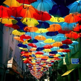 ポルトガル - New Colorful Canopies of Umbrellas