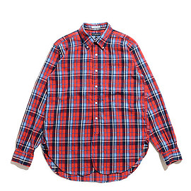 ENGINEERED GARMENTS - 19th BD Shirt-Brushed Plaid-Red×Blue