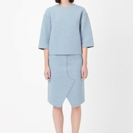 COS - Raw-edge wool top