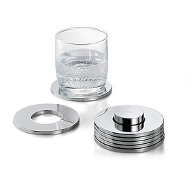 Philippi - Philippi Rings Coasters Set of 7 - Silver