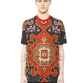 Givenchy by Riccardo Tisci - Black & Red Persian Print  COLUMBIAN CARPET PRINTED COTTON T-SHIRT