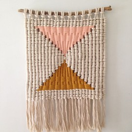 macramé weaving by Sally England, via Behance