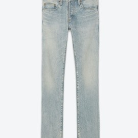Saint Laurent Paris - Original Low Waisted Slim Jean in Blue Raw Denim